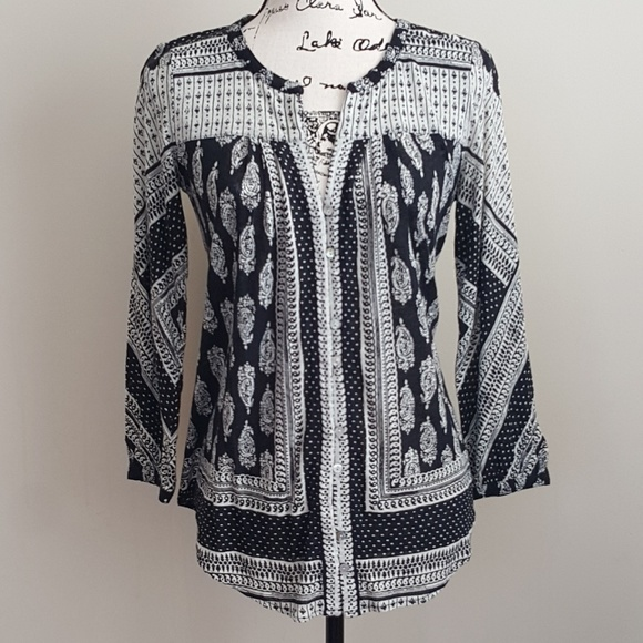 Lucky Brand Tops - Lucky Brand Placid Paisley Top